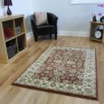 Luxurious Light Brown Country Cottage Floral Rug – 0531 Westbury 80 cm