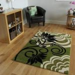 Green & Black Modern Rugs 1705 Montego – 60cm x 110cm (2ft x 3ft 7 )