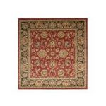 Traditional Red Beige Large Square Rugs Ziegler 160cmx160cm (5'3 x5'3