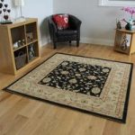 Black Beige Persian Style Traditional Large Square Rugs – Zielger