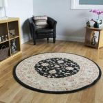 Black Beige Persian Style Traditional Large Circle Rugs – Zielger