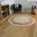 Cream & Red Traditional Circle Rug Ziegler 150cm (4ft11 ) Diameter