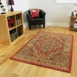 Traditional Red Beige Persian Style High Quality Long Entrance Runner