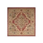 Traditional Red Beige Persian Style High Quality Large Square Rugs –