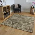 Soft Thick Brown Patchwork Large Square Living Room Rugs – Zielger