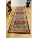 Modern Non Shed Red Blue Aztec Style Rugs – Zielger 80x150cm (2'6 x5'0