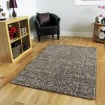 Non Shed Thick Brown Contemporary Circle Design Rugs – Stella