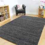 Moroccan Large Dark Grey Thick Modern Rug For Living Room 160cm x