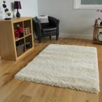 Extra Thick Soft Shaggy High Gloss Cream Rugs – Calgary 80cmx150cm