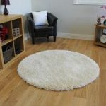 Extra Thick Soft Shaggy High Gloss Cream Circle Rugs – Calgary