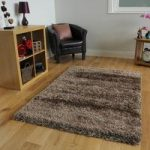 Thick Soft Glossy Brown & Copper Plain Shag Pile Rugs – Calgary