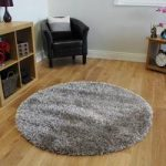 Circular Non Shed Light Brown Super Shine Shaggy Rugs For Living Room