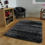 Non Shed Shaggy Navy & Silver High Shine Thick Sparkle Rugs – Calgary