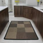 Contemporary Coffee Brown Squares Flat Weave Rugs – Panama