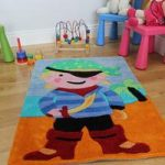 Boy's Pirate Soft Pile Multi Coloured Rug Kiddy 70x100cm