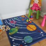 Boys Space & Planets Childrens Play Mats – Apollo 100×190