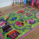 Cheap Girls Town & Shops Childrens Rug – Apollo 80×120