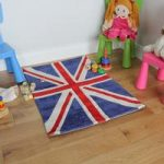 Children's Non Shed Blue Soft Union Jack Flag Rug 70x100cm