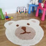 Kid's Cute Teddy Bear Super Soft Luxury Nursery Rug 75x80cm