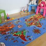 World Map & Country Educational Fun Kids Rug – 95cm x 200cm