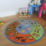 Circle Four Seasons Educational Large Round Kids Rug – 80cm Circle
