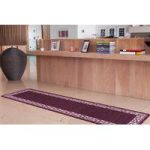 Estelle Purple Non Slip Machine Washable Kitchen Mats 80 cm x 150 cm