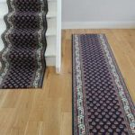 Navy Traditional Any Length Stair Runner Carpet – Lima 49 80cm Wide