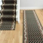 Dark Green Border Traditional Any Length Stair Carpet – Lima 49 60cm