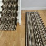 New Lima 459 Chocolate Lines Stair Carpet Runner 50cm Wide