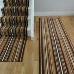 Lima 459 Brown Striped Stair Carpet Runner 90cm (3ft) Wide
