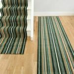 Lima 459 Green Striped Stair Carpet Runner 80cm Wide