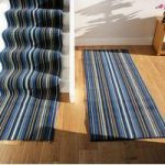 Lima 459 Navy Blue Stripe Stair Carpet Runner 80cm Wide