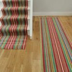 Lima 459 Pink Green Stripe Narrow Stair Carpet Runner Rug Any Length –