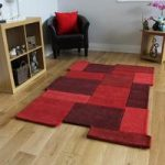 Red Wool Area Rug Astro Medium