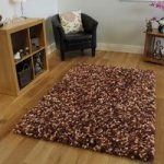 Brown Soft Shag Rug Carnaby Medium
