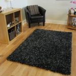 Black & Charcoal Shag Rug Carnaby Medium
