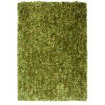 Green Soft Shaggy Rug Carnaby Small