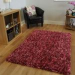 Red Soft Shaggy Rug Carnaby Medium