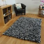 Navy Blue Soft Shaggy Rug Carnaby Medium