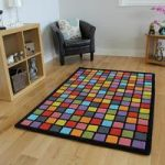 Geometric Wool Modern Rug Dynamic Medium