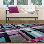 Purple & Blue Tartan Contemporary Rug Banbury Small