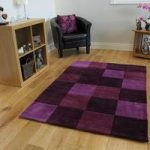 Purple Aubergine Contempoary Rug Banbury Small