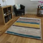 Yellow & Teal Modern Rug Medina Large