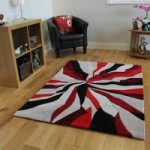 Red & Black Contemporary Rug Banbury Large