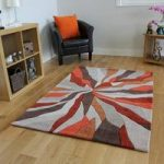 Orange Wave Modern Rug Banbury Small