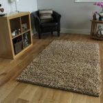 Beige Shaggy Wool Rug Moscow Medium