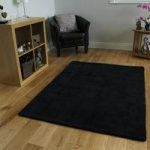 Black Cotton Rug Oslo Medium