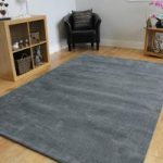 Grey Cotton Rug Oslo Medium