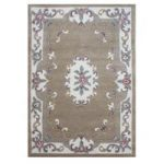 Wool Semi Circle Traditional Rug Beige Imperial 67×127