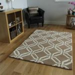 Beige Modern Trelis Wool Rugs – Athena – 80x150cm (2ft 6 x 5ft)